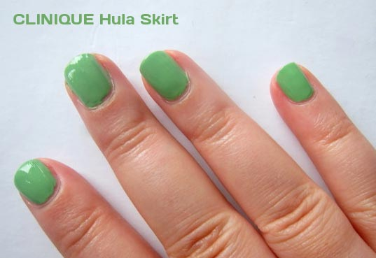 green polish after using Clinique hula skirt