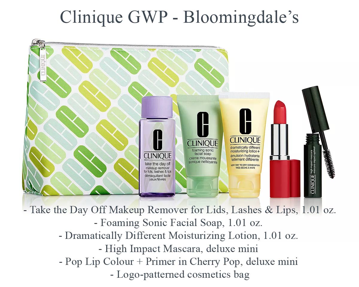 Clinique GWP at Bloomingdale's in April 2019