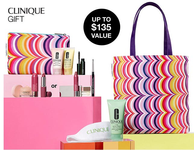 bb8ae31b36d Choose your 7-pc Clinique gift with any  40 Clinique purchase. You will  receive a cosmetic bag and 3 Clinique favourites + you can choose another  Clinique ...
