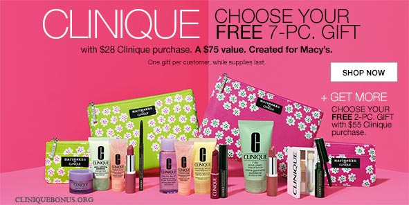 purchase 29 to get clinique bonus time gifts october 2018