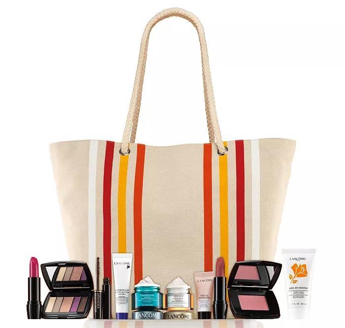 Lancôme Tote Bag Orange /& Fuchsia