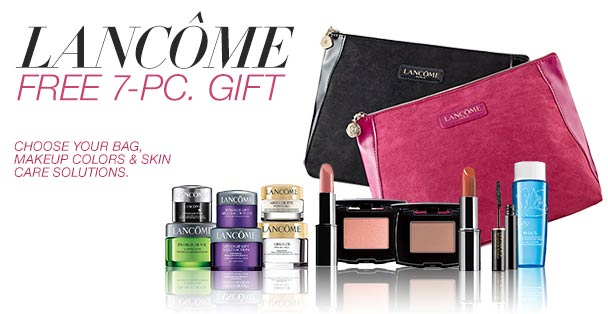 Lancôme Free Bonus Gift with Purchase Promo Offers at Dillard's: Definicils Mascara, Bifacil Eye Makeup Remover, Renergie, Absolue, Visionnaire + more!