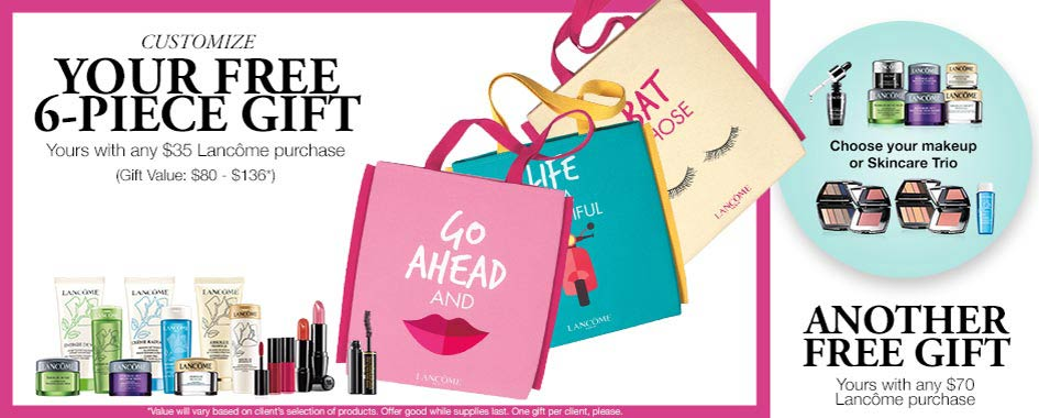 Lancome Gift With Purchase Gwp In January 2018