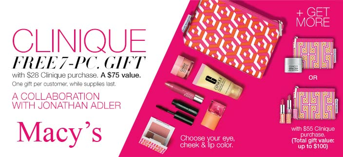 Purchase $40+ to get Clinique Bonus Time gifts   Dec 2017