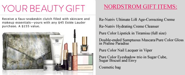 estee lauder gift with purchase at nordstrom april 2013 there