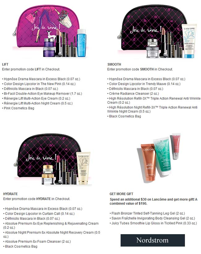 Lancome Gift with purchase (GWP) in September 2014