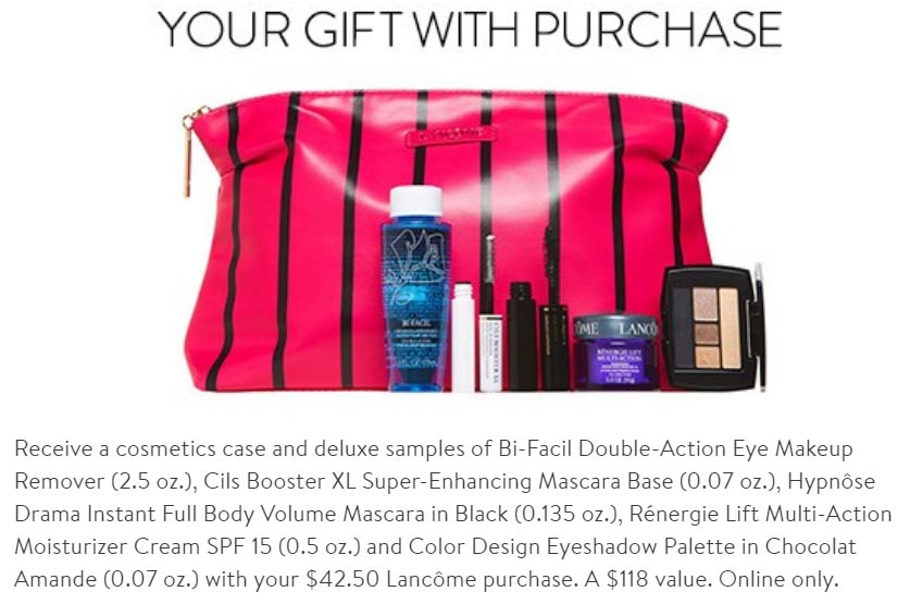 Lancome Gift with purchase (GWP) in December 2017